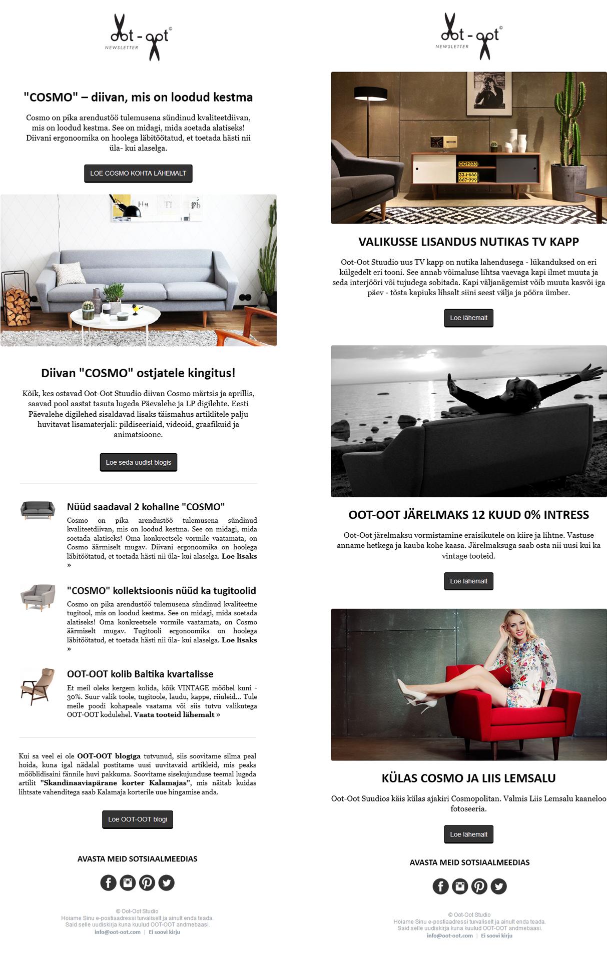 Oot-Oot Studio Newsletters